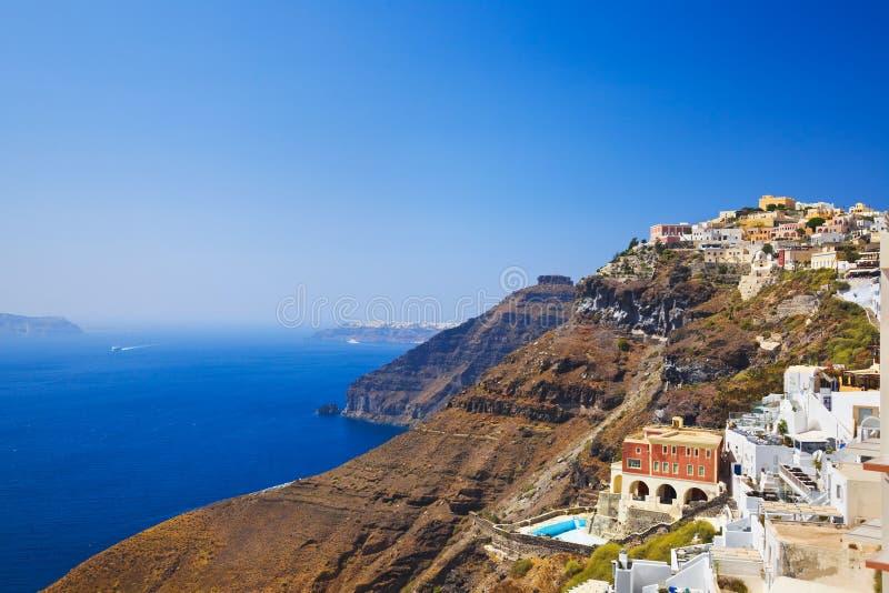Download Santorini sikt fotografering för bildbyråer. Bild av europa - 27280177