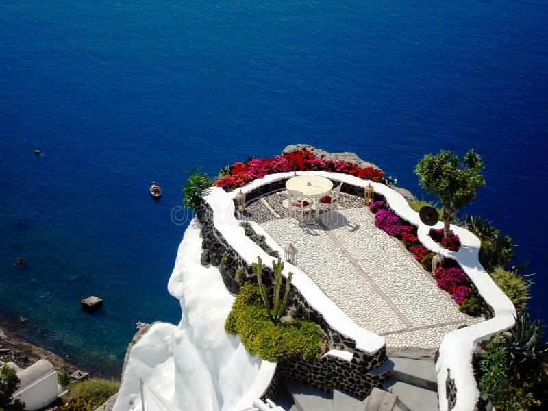 Santorini sommar arkivfoto