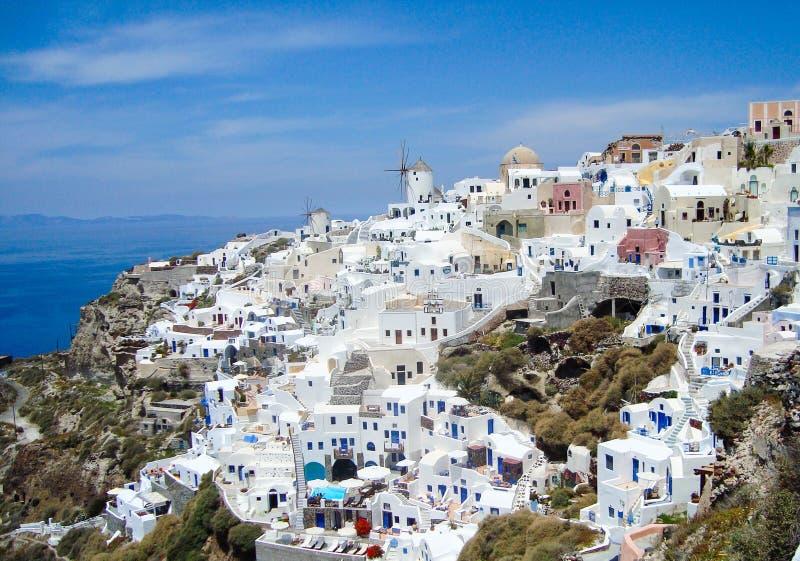 Santorini sommar fotografering för bildbyråer