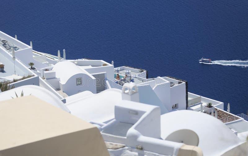 Santorini tak royaltyfri bild