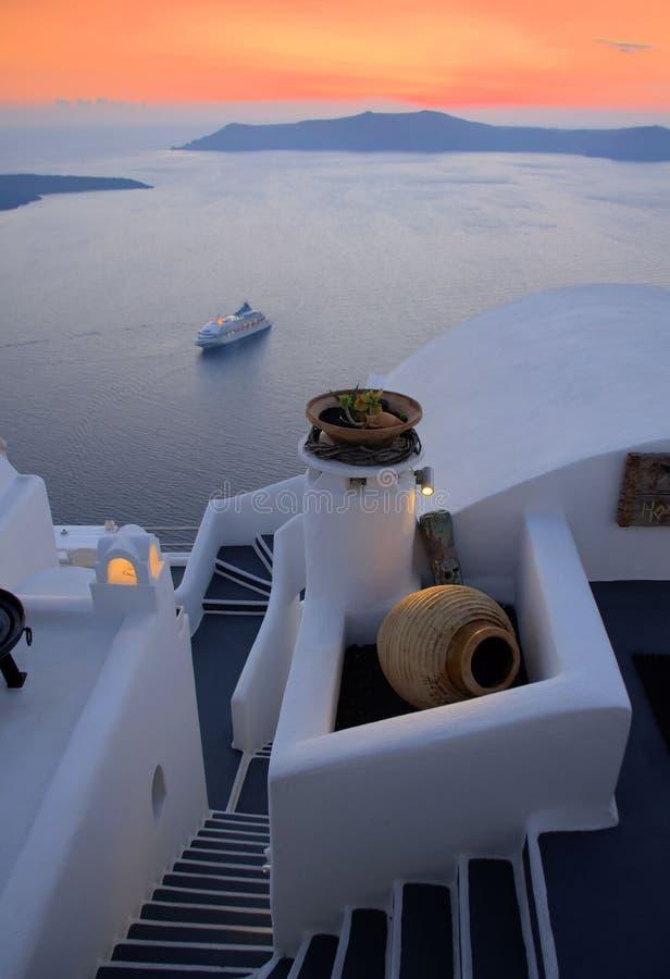 Santorini,Thira Town Royalty Free Stock Photo