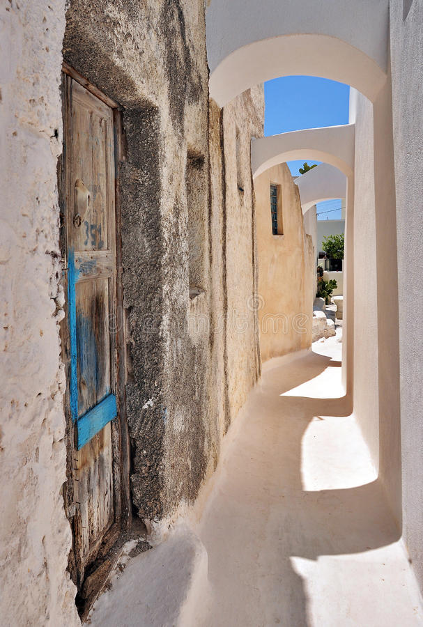 Santorini ulica zdjęcia royalty free