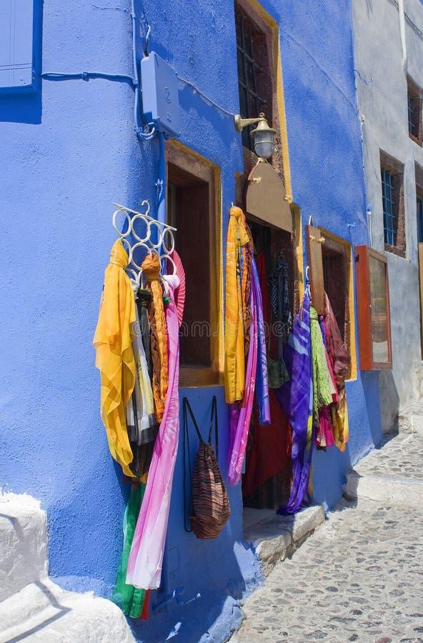Santorini, un piccolo negozio immagini stock