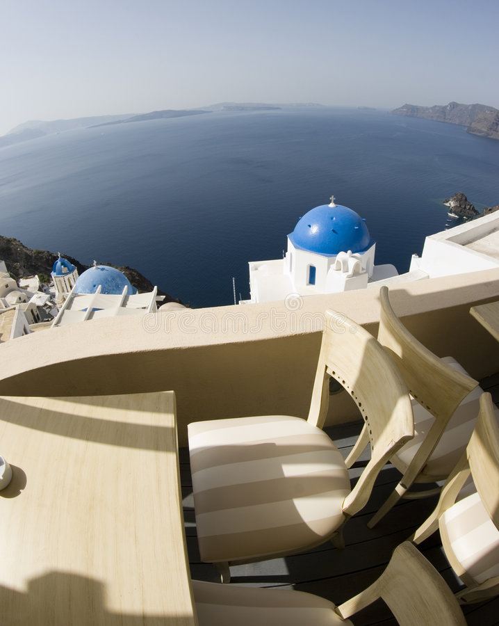Santorini unglaubliche Ansicht stockfotos