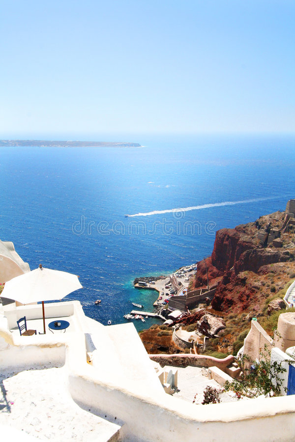 Download Santorini View stock photo. Image of orange, mediterranean - 6325200