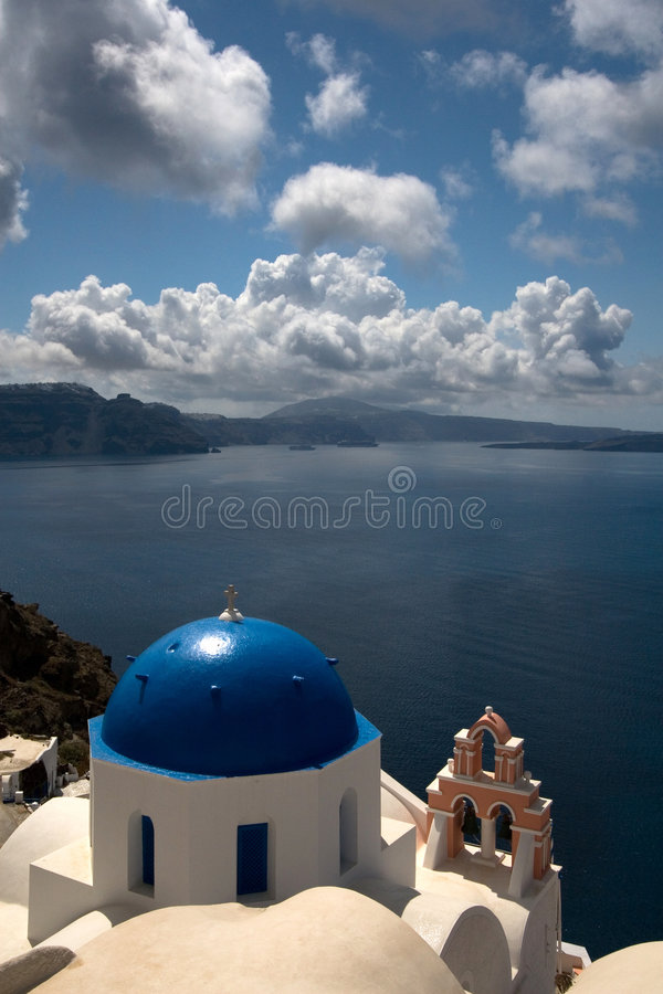 Download Santorini View From Oia To Fira Royalty Free Stock Image - Image: 4351736