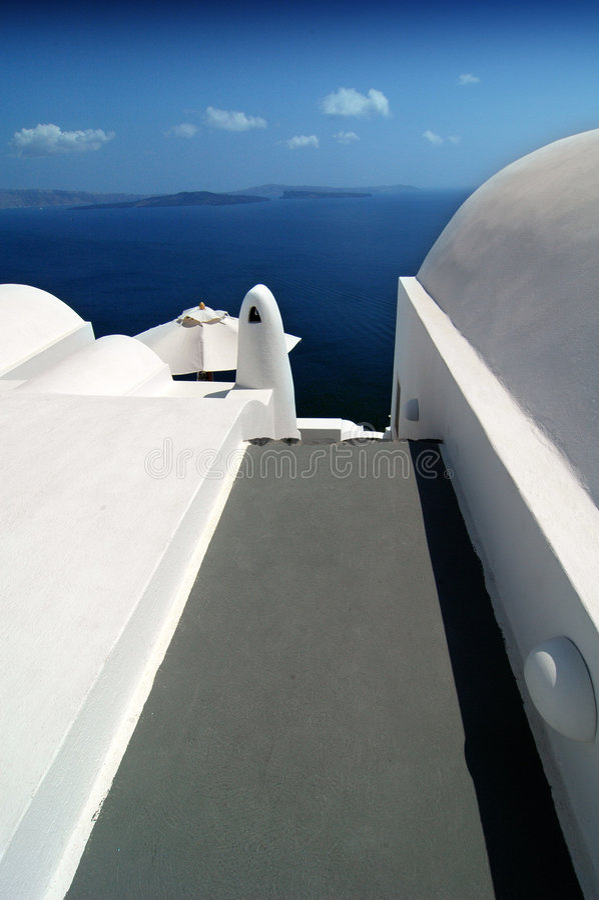 Santorini vormt 2 stock foto