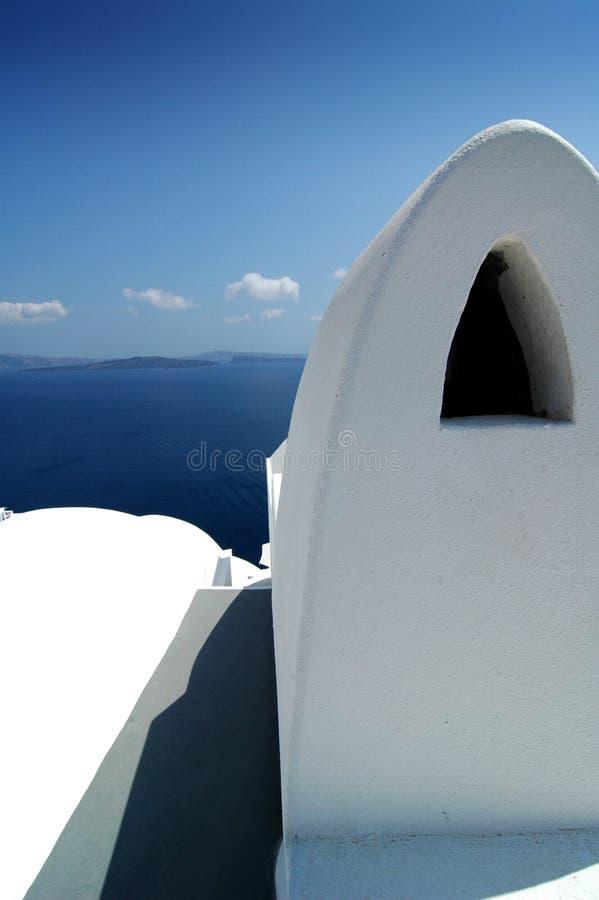 Santorini vormt 2 stock fotografie