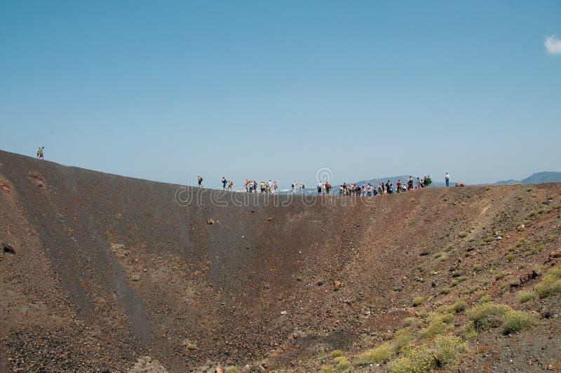 Santorini Vulkan stockfotografie