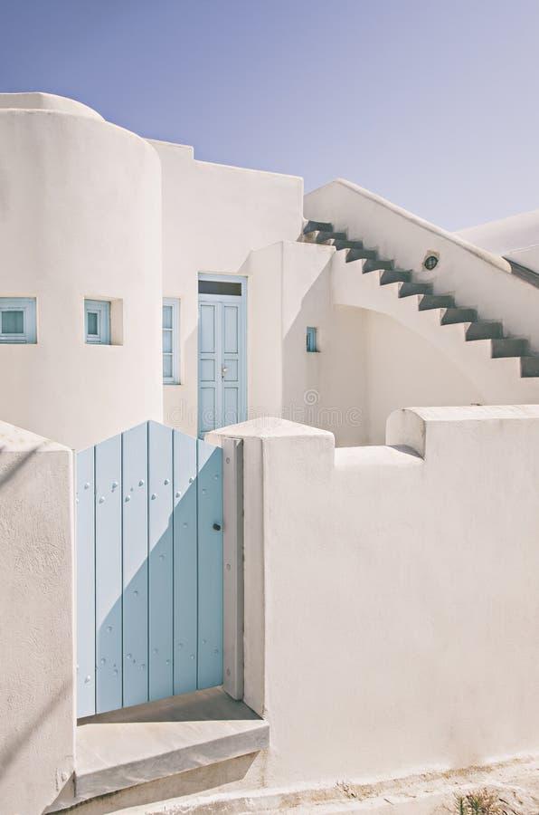 Santorini wit huis royalty-vrije stock foto