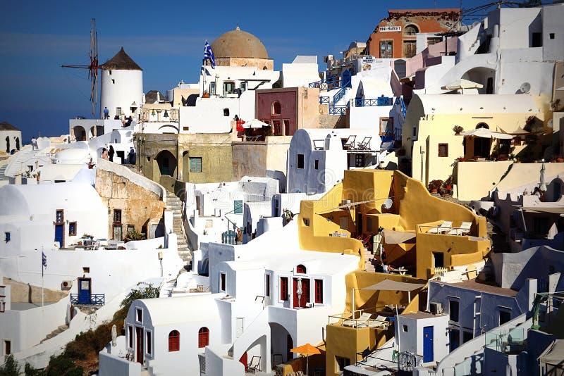 Santorini wyspa Grecja, morze egejskie obraz royalty free