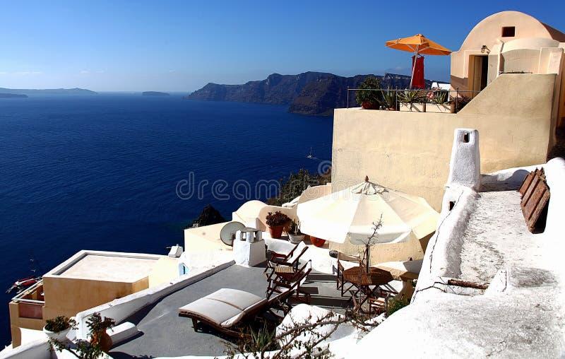 Santorini wyspa, morze egejskie, Grecja zdjęcia stock