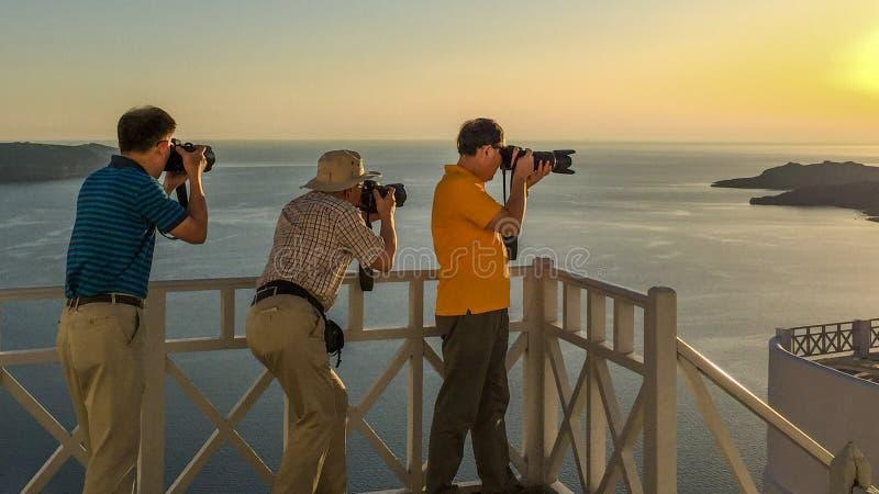 Santorini zmierzch obrazy royalty free