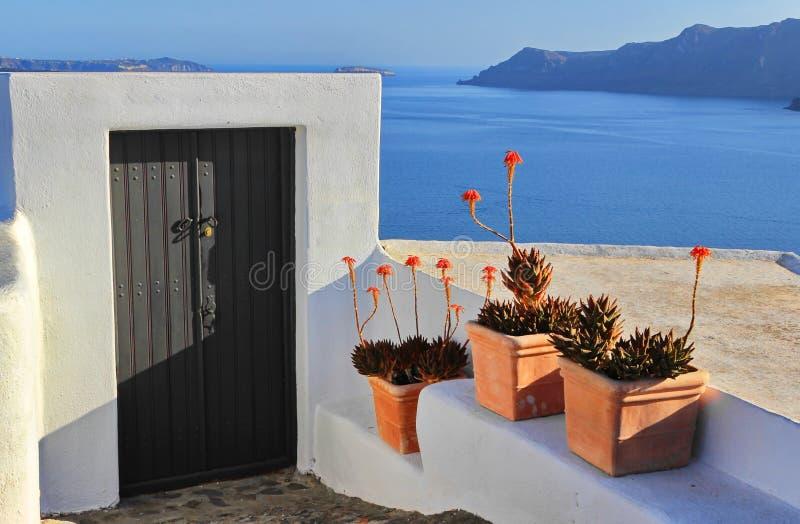 Santorinideur royalty-vrije stock afbeelding