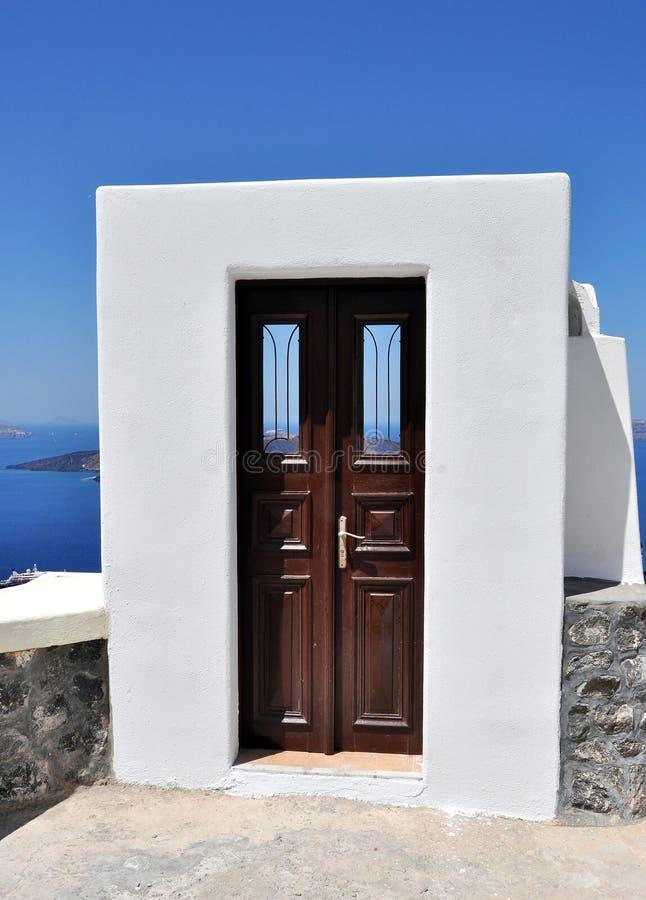 Santorinideur stock afbeelding