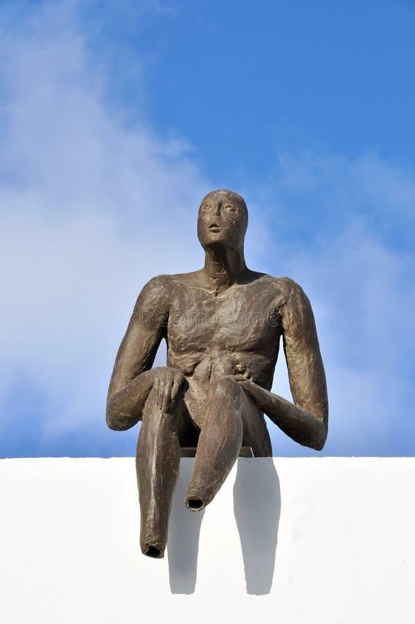 Santorinistandbeeld stock foto's