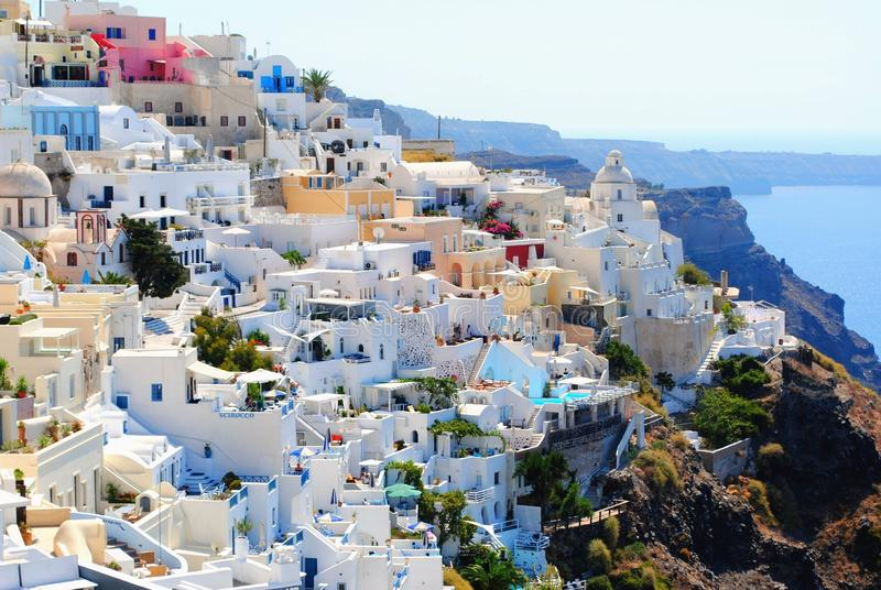Santorinni Greece during Daytime stock images