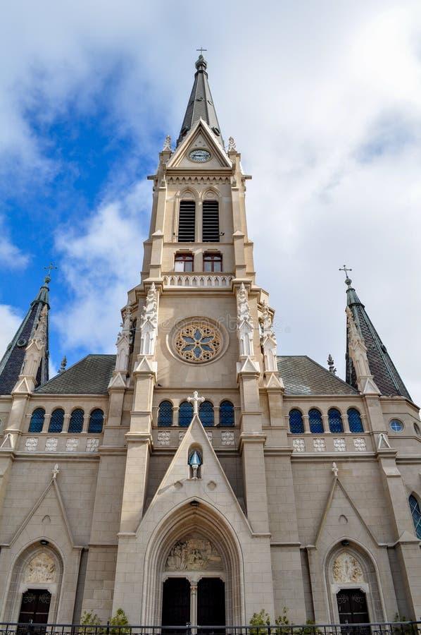Santos Pedro y Cecilia Cathedral im März Del Plata, Buenos Aires lizenzfreie stockfotos