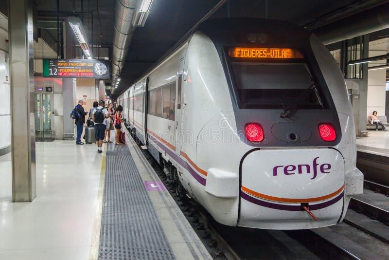 Sants火车站巴塞罗那 库存图片
