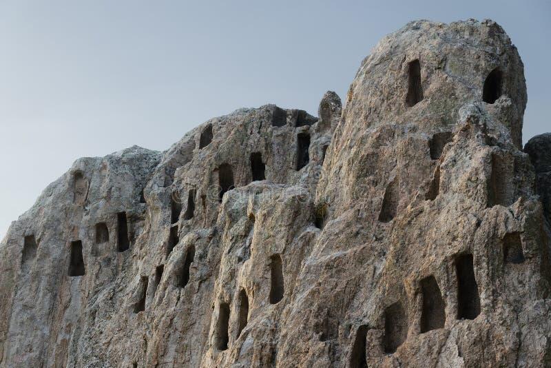 Santuário antigo Eagle Rocks ou & x22; skali& x22 do orlovi; foto de stock