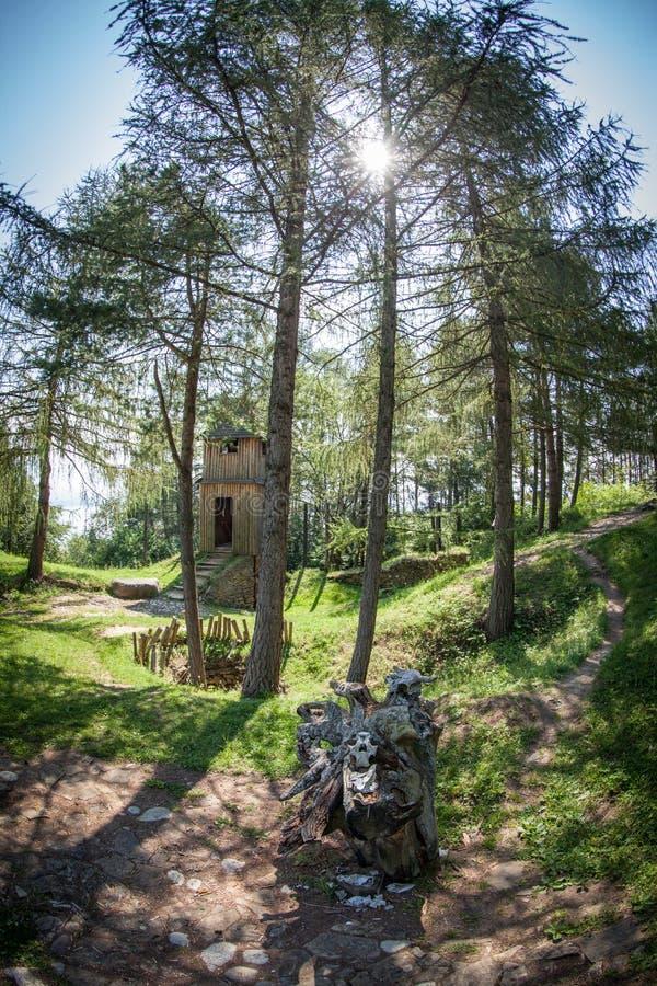 Santuário celta em Havranok - Eslováquia fotografia de stock royalty free