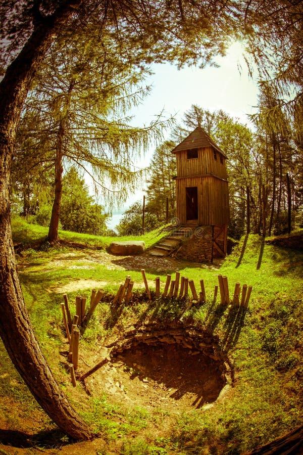 Santuário celta em Havranok - Eslováquia imagem de stock