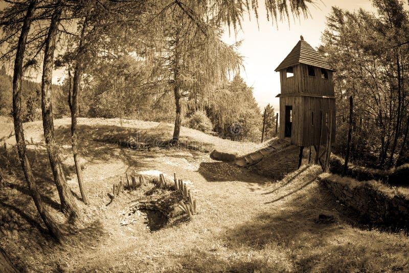 Santuário celta em Havranok - Eslováquia imagens de stock