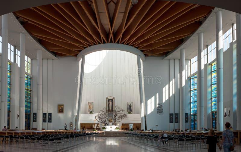 Santuário da mercê Divine, interior, Cracow, Polônia foto de stock