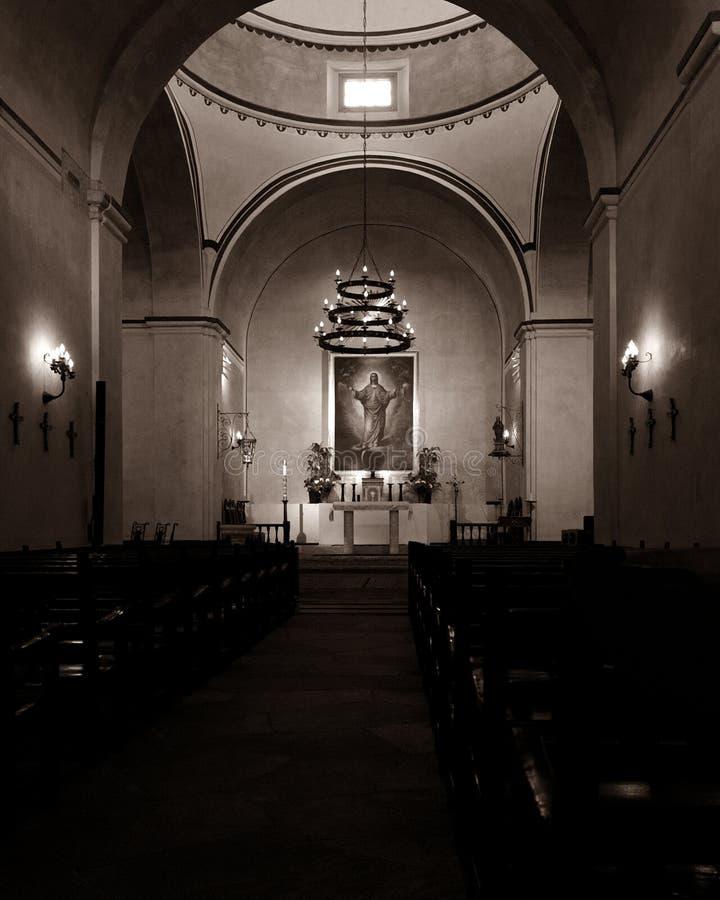 Santuário da missão Concepción com luz solar natural fotos de stock royalty free
