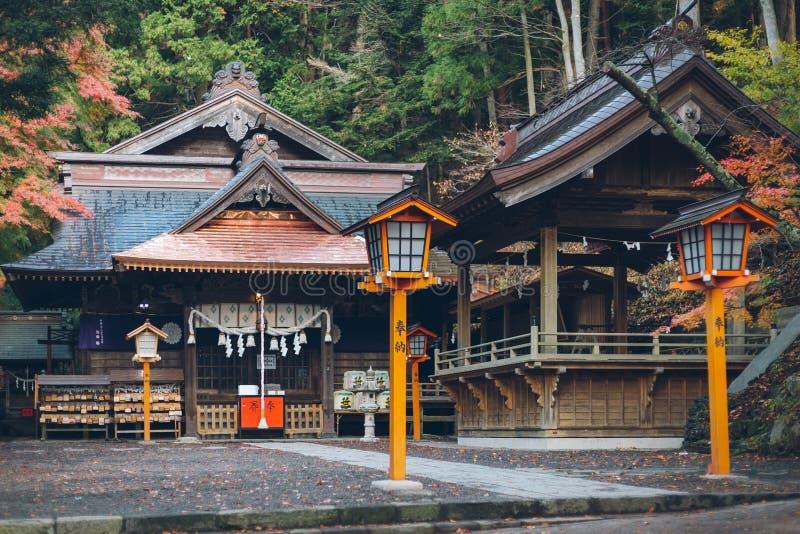 Santuário de Arakura Fuji Sengen na prefeitura de Yamanashi, Japão Yamanashi imagens de stock royalty free