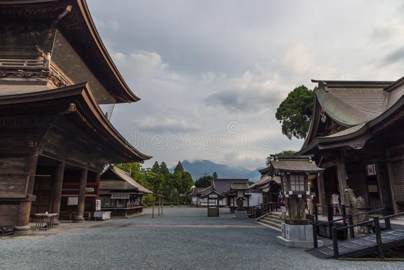 Santuário de Aso, um santuário xintoísmo em Aso, Kumamoto, Japão fotos de stock royalty free