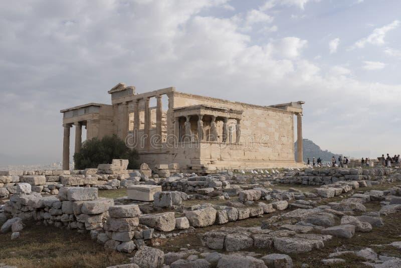 Santuário de Athena Polias na acrópole foto de stock royalty free