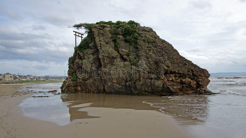 Santuário de Benten Jima na praia de Izumo imagem de stock