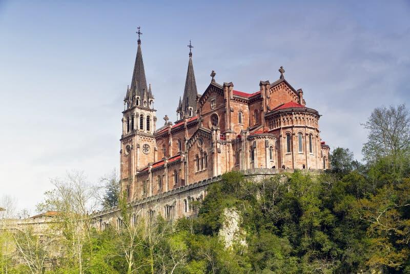 Santuário de Covadonga, as Astúrias, Spain imagens de stock