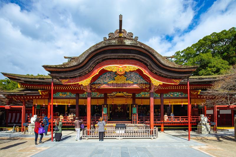 Santuário de Dazaifu Tenmangu em Dazaifu, Fukuoka, Japão imagens de stock