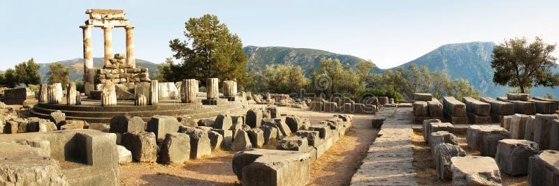 Santuário de Delphi imagens de stock