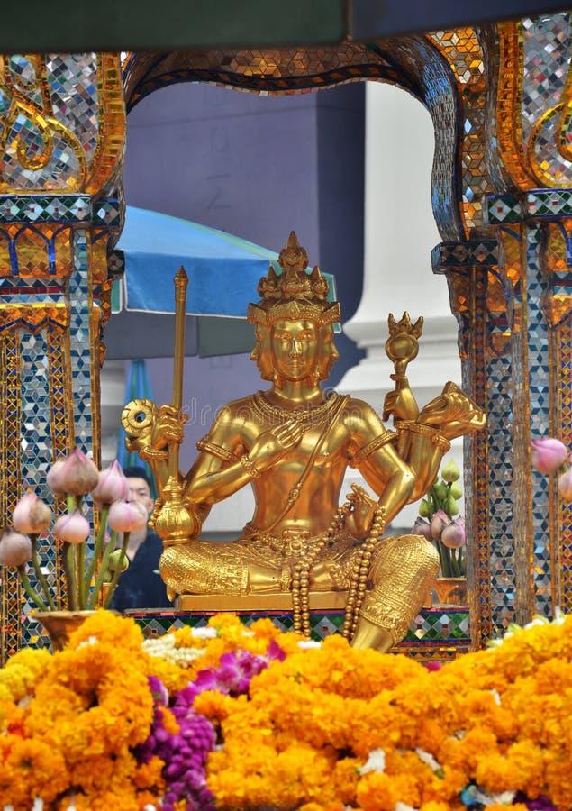 Santuário de Erawan, santuário hindu em Banguecoque fotos de stock
