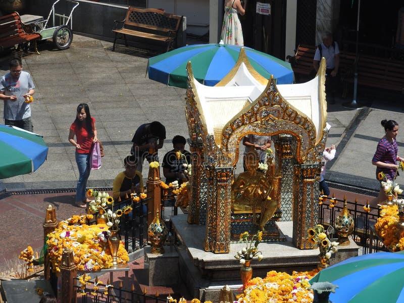 Santuário de Erewan com o buddha enfrentado quatro fotografia de stock