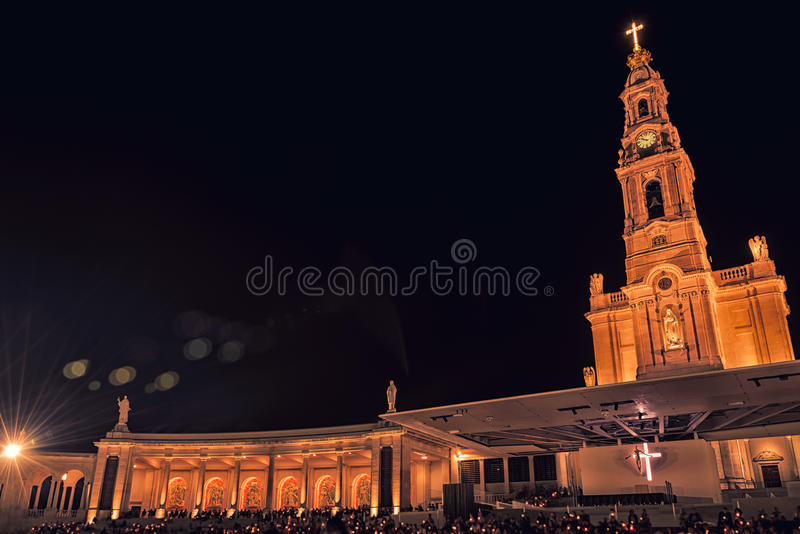 Santuário de Fatima, altar do mundo católico imagem de stock royalty free
