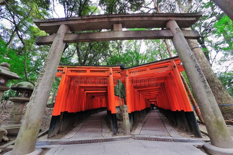 Santuário de Fushimi Inari Taisha em Kyoto foto de stock royalty free
