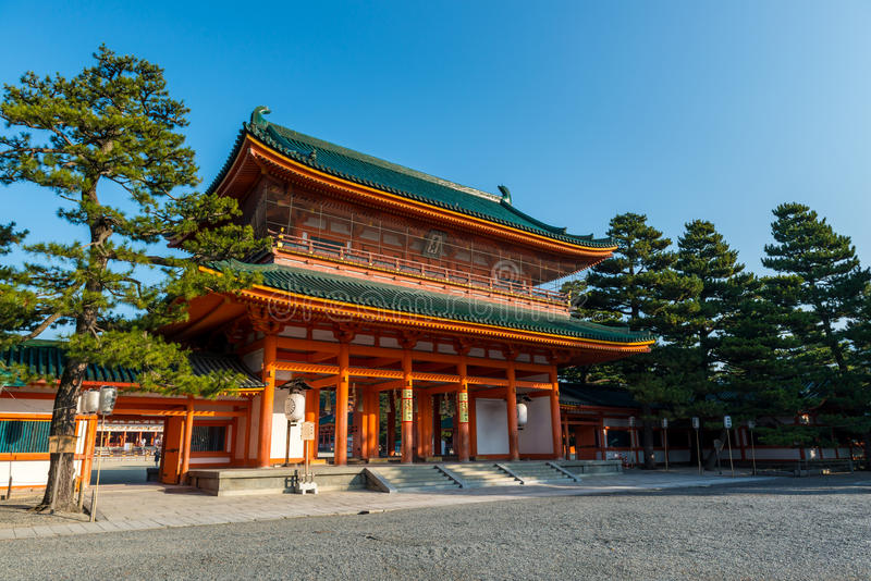 Santuário de Heian fotografia de stock royalty free