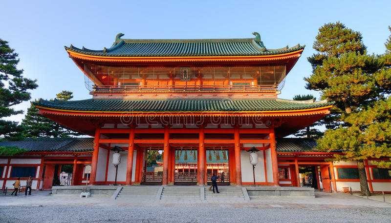 Santuário de Heian em Kyoto, Japão imagem de stock royalty free