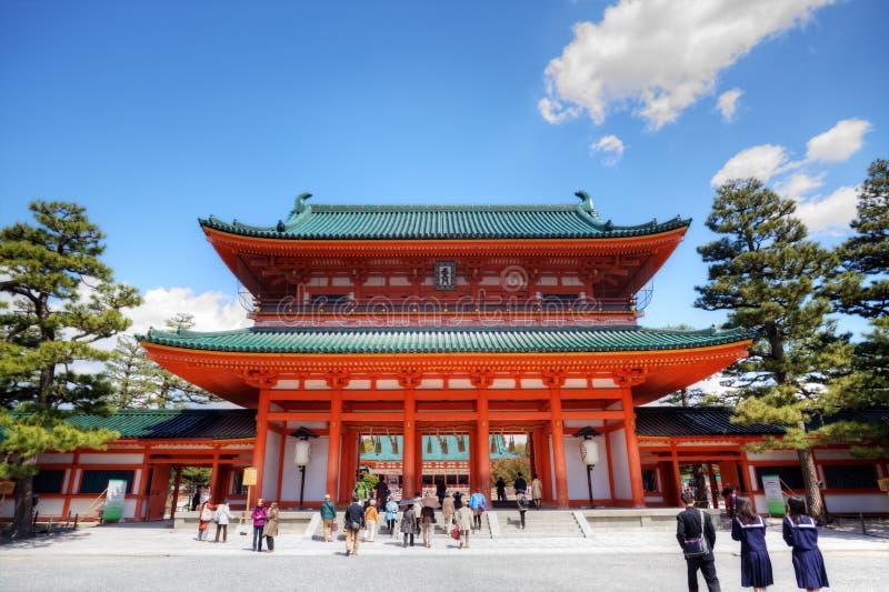 Santuário de Heian Jingu fotografia de stock royalty free
