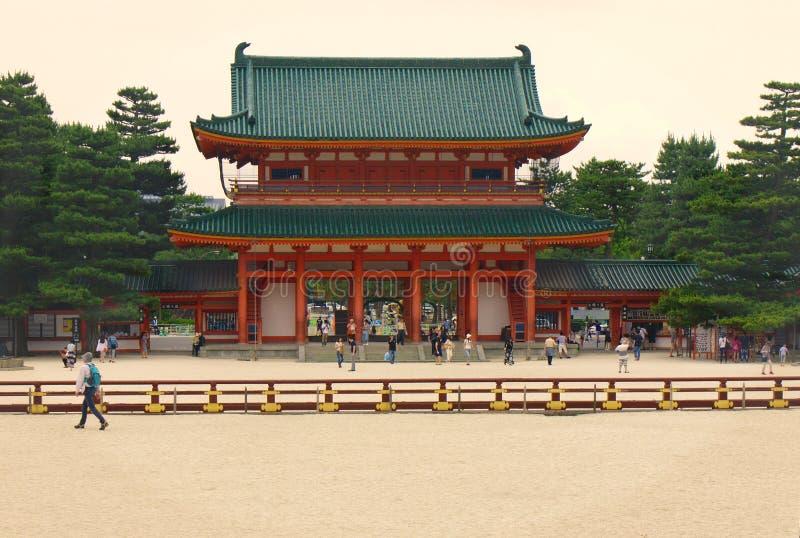 Santuário de Heian, Kyoto, Japão imagem de stock royalty free