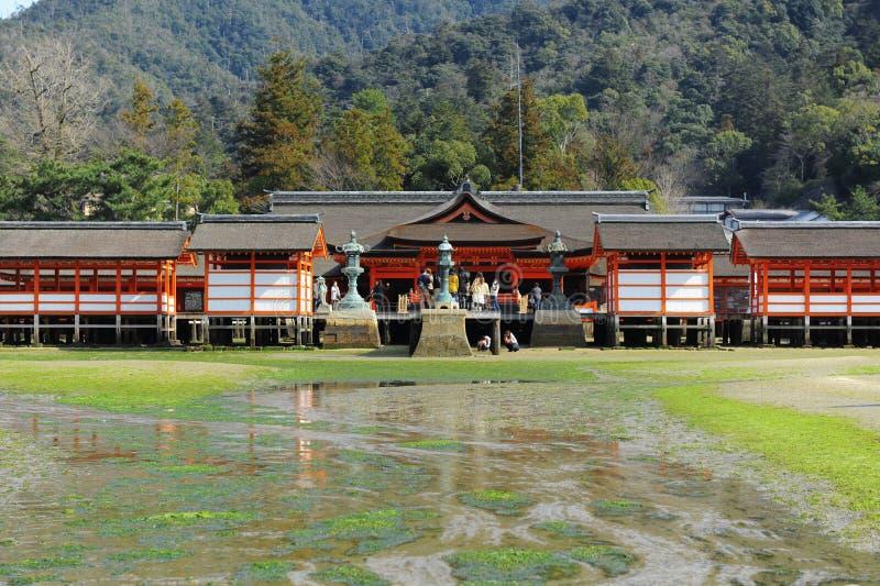 Santuário de Itsukushima fotos de stock
