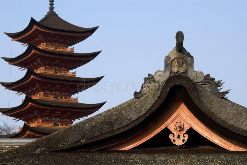 Santuário de Itsukushima, Miyajima, Japão foto de stock