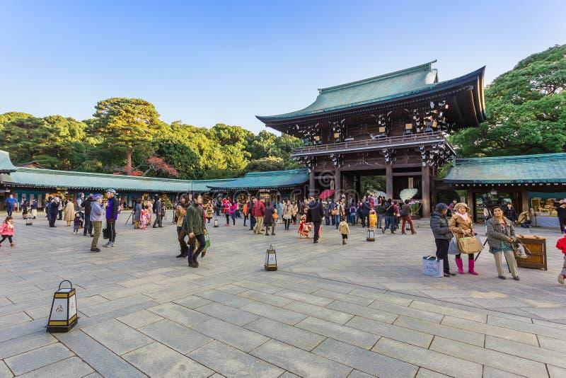 Santuário de Meiji-jingu no Tóquio Japão imagens de stock