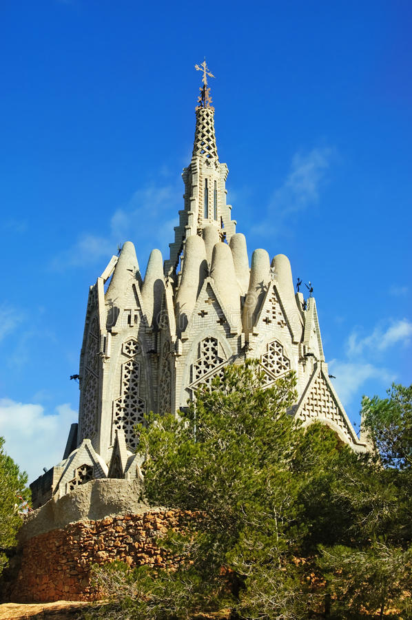 Santuário de Montserrat, Montferri, Spain imagens de stock