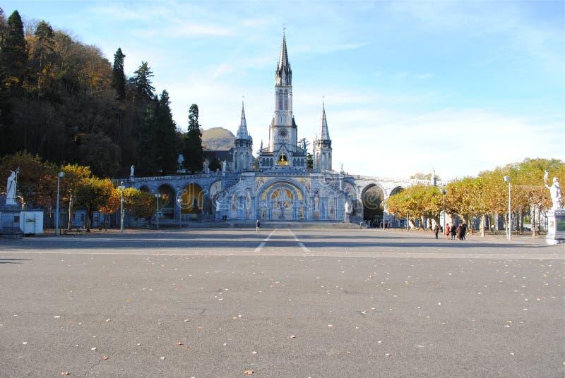 Santuário de nossa senhora de Lourdes fotos de stock