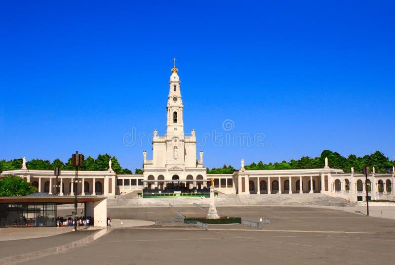 Santuário de nossa senhora, Fatima, Portugal fotos de stock
